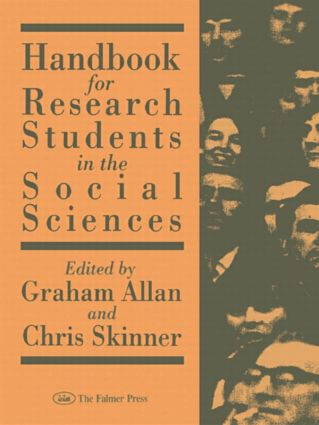 Handbk Research Stud Socl Sci: 1st Edition (Hardback) book cover