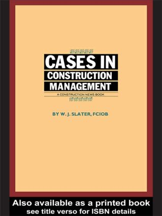 Cases in Construction Management (Paperback) book cover