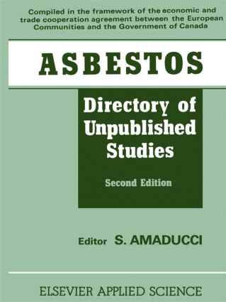 Asbestos: Directory of Unpublished Studies, 1st Edition (e-Book) book cover