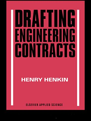 Drafting Engineering Contracts: 1st Edition (Hardback) book cover