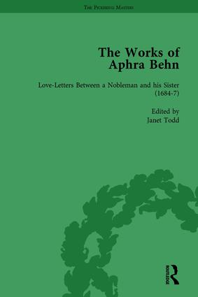 The Works of Aphra Behn: v. 2: Love Letters: 1st Edition (Hardback) book cover