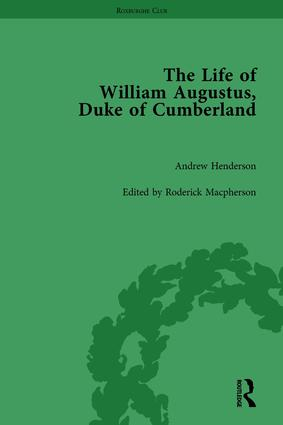 The Life of William Augustus, Duke of Cumberland: by Andrew Henderson book cover