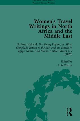 Women's Travel Writings in North Africa and the Middle East, Part I (Hardback) book cover