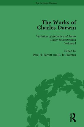 The Works of Charles Darwin: Vol 19: The Variation of Animals and Plants under Domestication (, 1875, Vol I): 1st Edition (Hardback) book cover