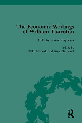 The Economic Writings of William Thornton: 1st Edition (Hardback) book cover