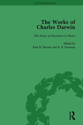 The Works of Charles Darwin: Vol 27: The Power of Movement in Plants (1880): 1st Edition (Hardback) book cover