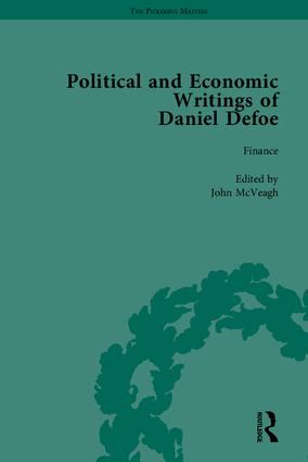 The Political and Economic Writings of Daniel Defoe book cover