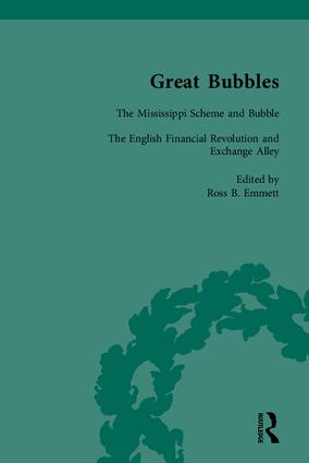 Great Bubbles: Reactions to the South Sea Bubble, the Mississippi Scheme and the Tulip Mania Affair, 1st Edition (Hardback) book cover