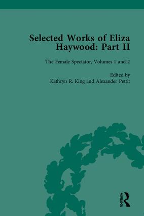 Selected Works of Eliza Haywood, Part II: 1st Edition (Hardback) book cover