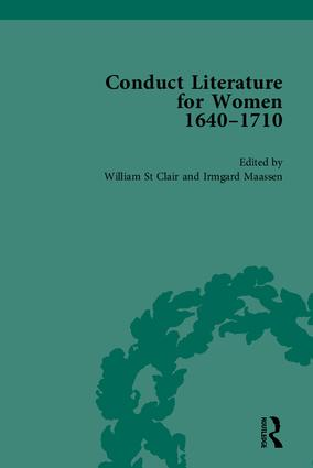 Conduct Literature for Women, Part II, 1640-1710: 1st Edition (Hardback) book cover