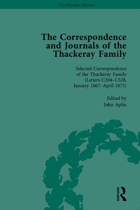 The Correspondence and Journals of the Thackeray Family: 1st Edition (Hardback) book cover