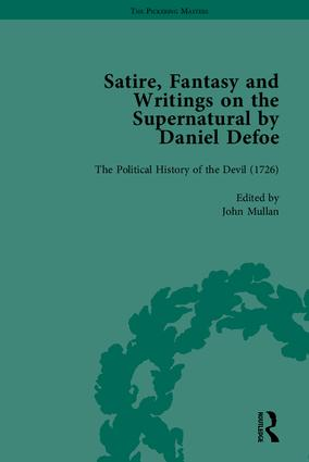 Satire, Fantasy and Writings on the Supernatural by Daniel Defoe, Part II: 1st Edition (Hardback) book cover