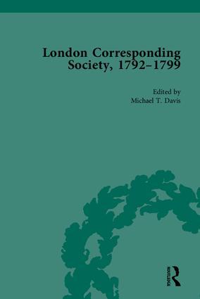 The London Corresponding Society, 1792-1799: 1st Edition (Hardback) book cover
