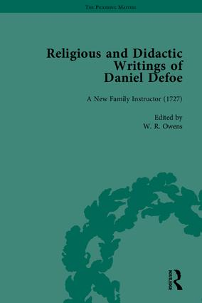Religious and Didactic Writings of Daniel Defoe, Part I: 1st Edition (Hardback) book cover