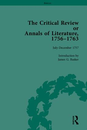The Critical Review or Annals of Literature, 1756-1763: 1st Edition (Hardback) book cover