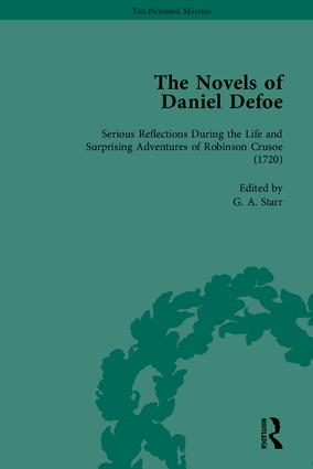 The Novels of Daniel Defoe, Part I: 1st Edition (Hardback) book cover