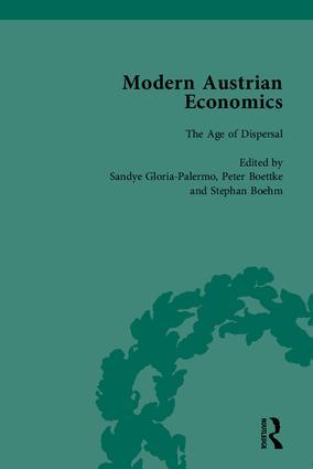 Modern Austrian Economics: 1st Edition (Hardback) book cover