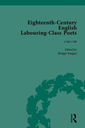 Eighteenth-Century English Labouring-Class Poets: 1st Edition (Hardback) book cover