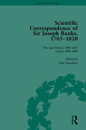 The Scientific Correspondence of Sir Joseph Banks, 1765-1820: 1st Edition (Hardback) book cover