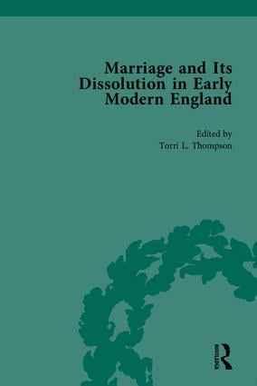 Marriage and Its Dissolution in Early Modern England: 1st Edition (Paperback) book cover
