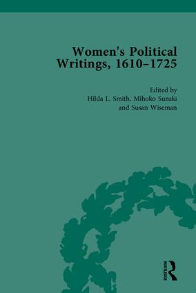 Women's Political Writings, 1610-1725: 1st Edition (Hardback) book cover