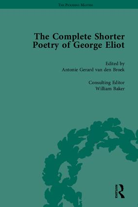 The Complete Shorter Poetry of George Eliot: 1st Edition (Hardback) book cover