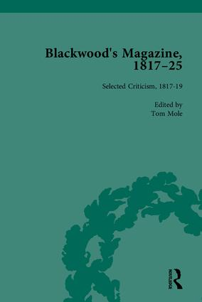 Blackwood's Magazine, 1817-25: Selections from Maga's Infancy, 1st Edition (Hardback) book cover