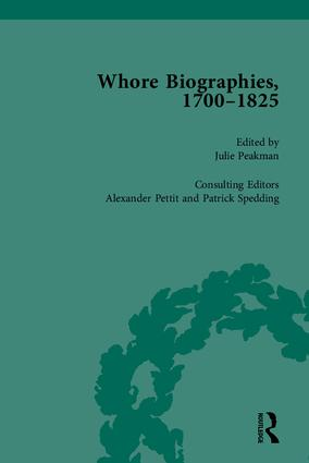 Whore Biographies, 1700-1825, Part I: 1st Edition (Hardback) book cover