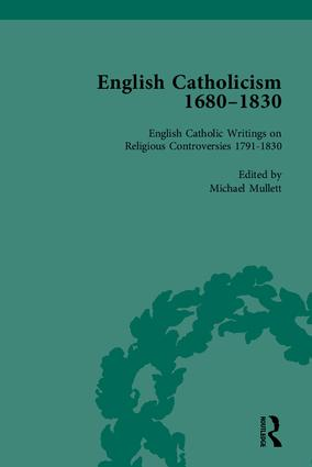 English Catholicism, 1680-1830: 1st Edition (Hardback) book cover