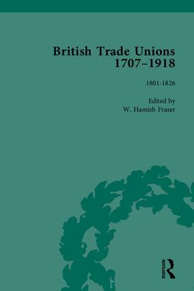 British Trade Unions, 1707–1918, Part I: 1st Edition (Hardback) book cover
