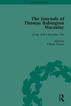The Journals of Thomas Babington Macaulay: 1st Edition (Hardback) book cover