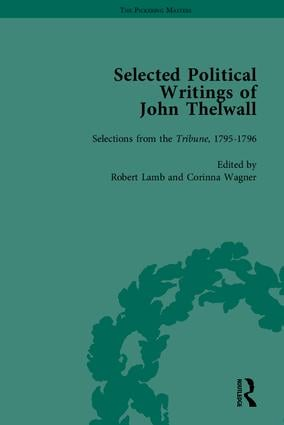 Selected Political Writings of John Thelwall book cover