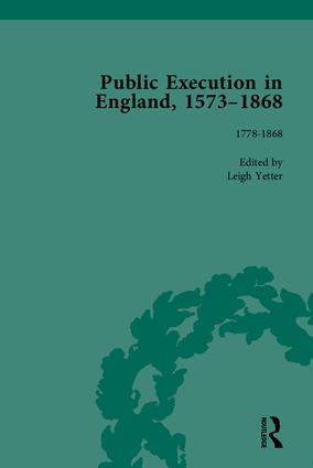 Public Execution in England, 1573–1868, Part II: 1st Edition (Hardback) book cover
