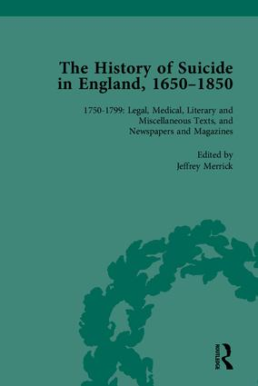 The History of Suicide in England, 1650–1850, Part II: 1st Edition (Hardback) book cover