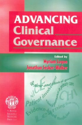 Advancing Clinical Governance: 1st Edition (Paperback) book cover