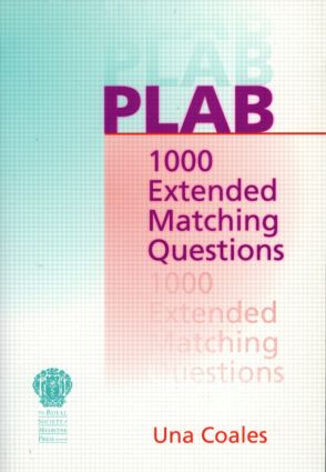 PLAB: 1000 Extended Matching Questions: 1st Edition (Paperback) book cover