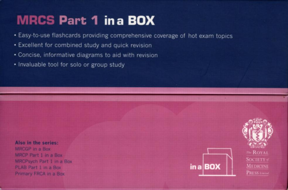 MRCS Part 1 in a Box (Paperback) book cover