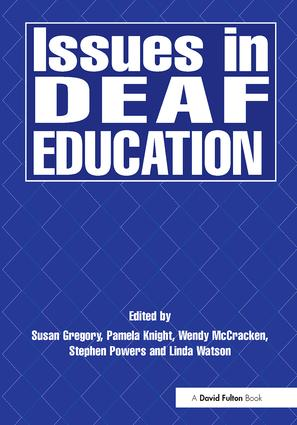 Issues in Deaf Education: 1st Edition (Paperback) book cover