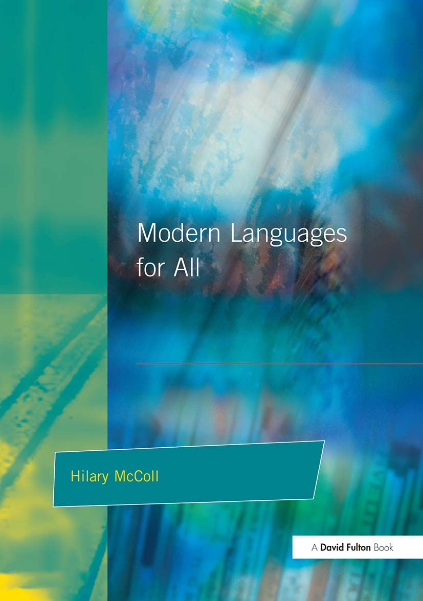 Modern Languages for All: 1st Edition (Paperback) book cover