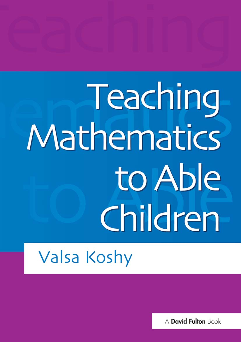 Teaching Mathematics to Able Children: 1st Edition (Paperback) book cover