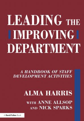 Leading the Improving Department: A Handbook of Staff Activities, 1st Edition (Paperback) book cover