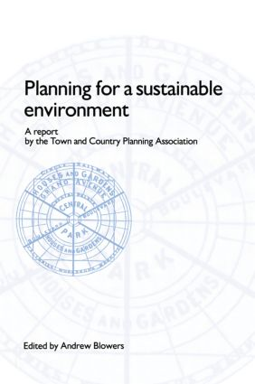 Planning for a Sustainable Environment (Paperback) book cover