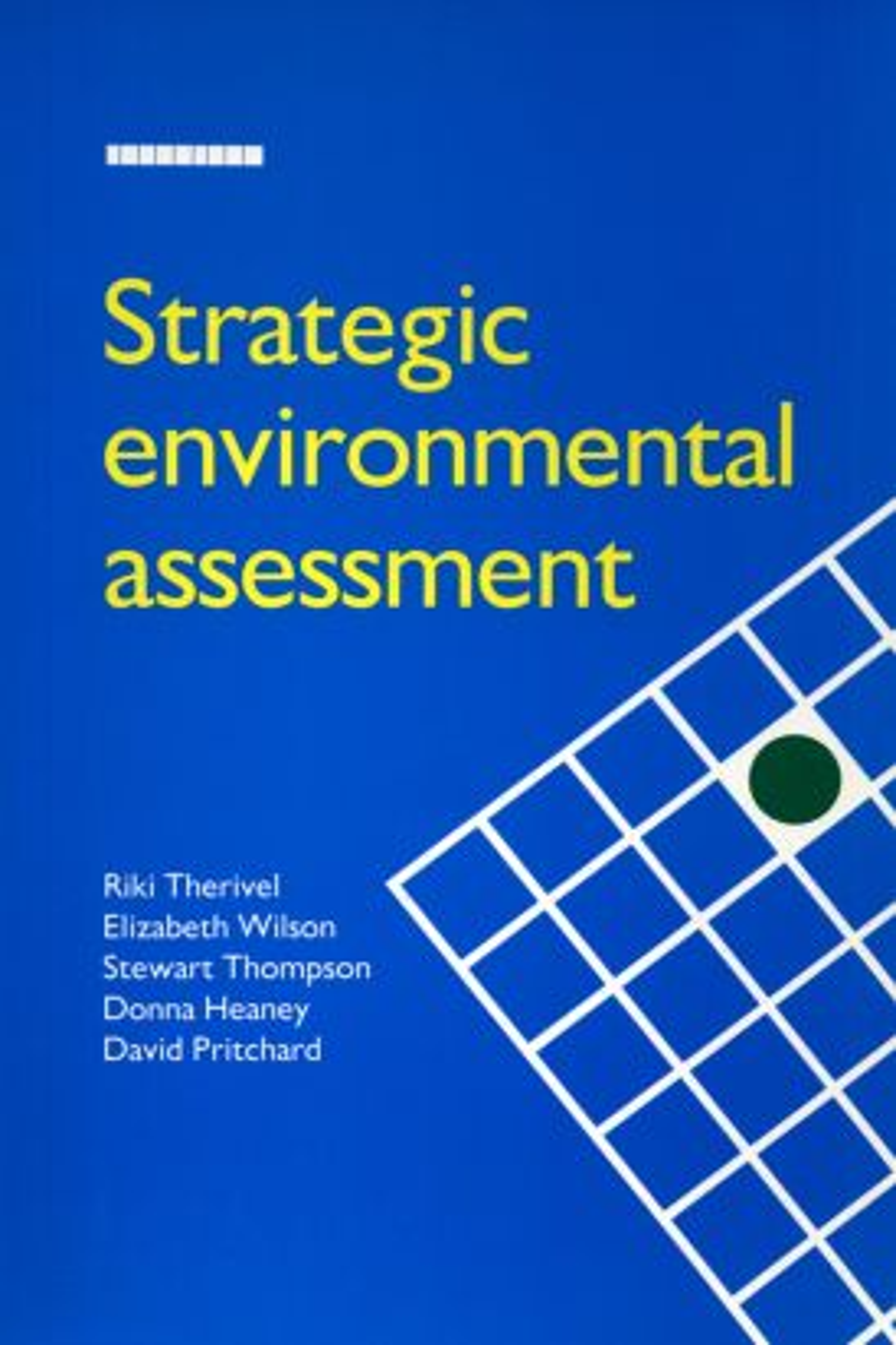 Strategic Environmental Assessment (Paperback) book cover