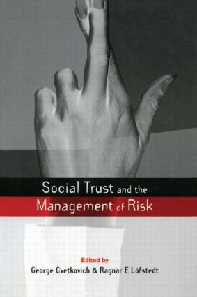 Social Trust and the Management of Risk (e-Book) book cover