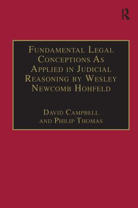 Fundamental Legal Conceptions As Applied in Judicial Reasoning by Wesley Newcomb Hohfeld book cover