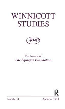 Winnicott Studies. No 8: 1st Edition (Paperback) book cover