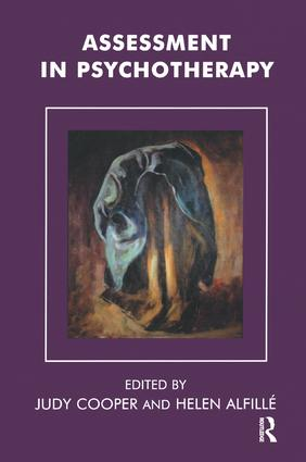 Assessment in Psychotherapy: 1st Edition (e-Book) book cover