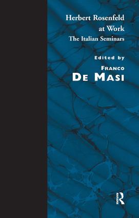 Herbert Rosenfeld at Work: The Italian Seminars, 1st Edition (Paperback) book cover