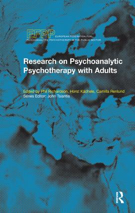 Research on Psychoanalytic Psychotherapy with Adults book cover