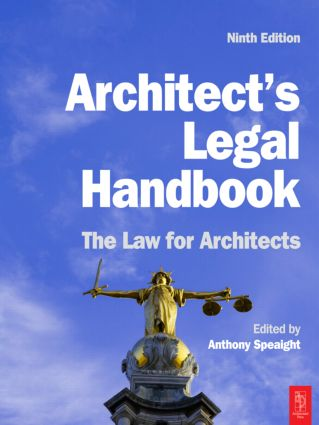 Architect's Legal Handbook: 9th Edition (Paperback) book cover